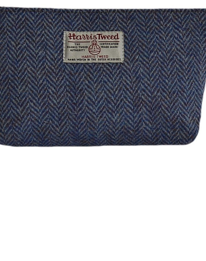 .blue harri tweed cosmic bag