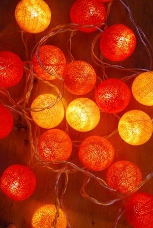 ball fairy lights. ambient ball fairy lights orange tones t