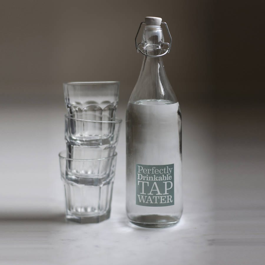 Tap Water Glass Bottle - Daisy HardcastleDaisy Hardcastle